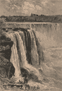 The Horse Shoe Falls, Niagara - View from Goat Island. North America 1885